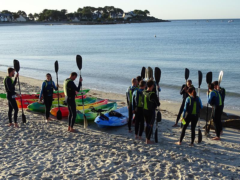 Balade kayak Morbihan Quiberon Carnac